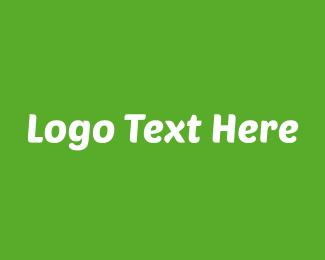 Uppercase - Modern Green & White Text logo design
