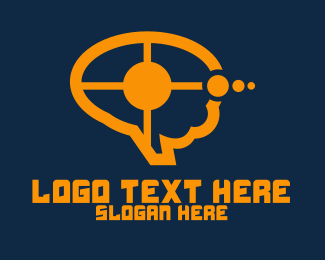 Speech Bubble - Blue Target Speech Bubble logo design