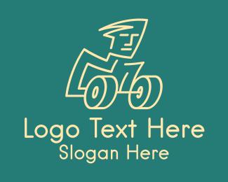 Dumbbell - Dumbbell Man logo design