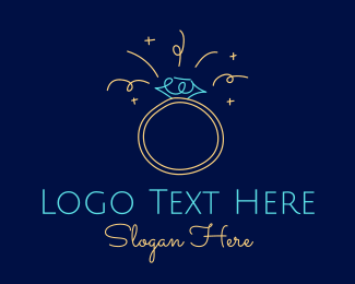 Jewelry Maker - Sparkling Diamond Ring  logo design