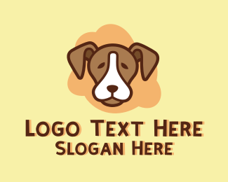 Animal Clinic - Brown Pet Dog logo design