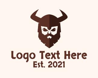Gaming - Medieval Barbarian Warrior logo design