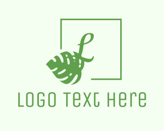 Cancun - Tropical Chic Lettermark logo design