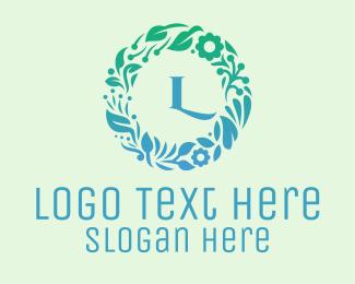 Entourage - Elegant Wreath Lettermark logo design