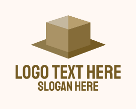 Simple Cardboard Box  Logo