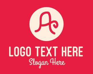 Handwritten - Pink Handwritten Letter A logo design