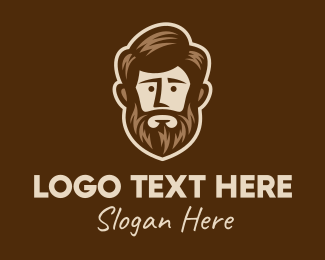 Model - Lush Beard Man  logo design