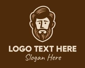 Model - Lush Beard Man logo design