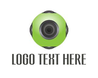 Lens - Green Camera logo design
