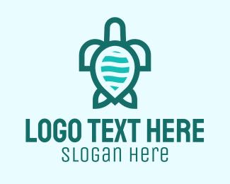 Species - Green Turtle Biodiversity logo design