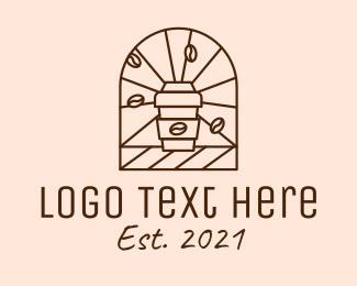 Line Art - Brown Coffee Line Art logo design