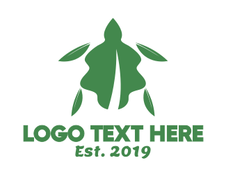 Amphibian - Leaf Turtle logo design