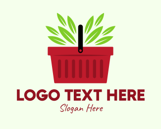 Veggies - Green Veggies Basket logo design