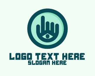 Sign Language Lessons - Hand Eye Point Click logo design