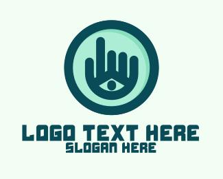 Point - Hand Eye Point Click logo design
