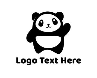 Panda - Cute Baby Panda logo design