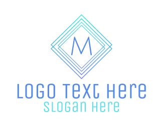 Museum - Modern Gradient Stroke Lettermark logo design