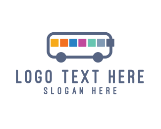Commute - App Bus logo design