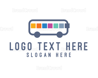 School Bus - App Bus logo design