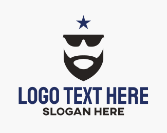 Barbershop - Sunglasses & Beard  logo design