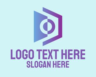 Violet - Abstract Violet Camera logo design