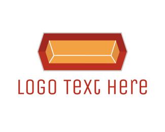 Fabrication - Gold Ingot logo design