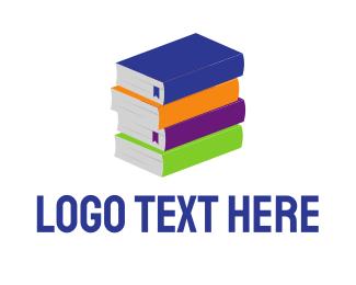 Literacy - Colorful Books logo design