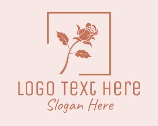 Rose Bud - Rose Flower Shop logo design