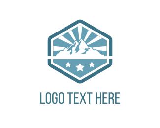 Mount - Mountains & Stars logo design