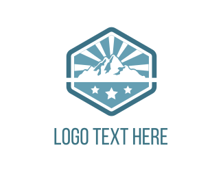 Highlands - Mountains & Stars logo design