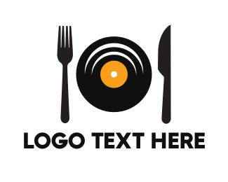 Dj - Music Dish logo design