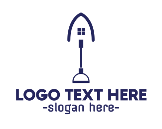 Shovel - Blue Shovel House logo design