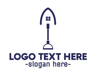 Renovation - Blue Shovel House logo design