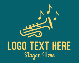 Trumpet Player - Classic Musical Trumpet logo design