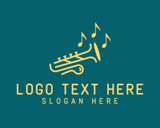 Classical Music - Classic Musical Trumpet logo design