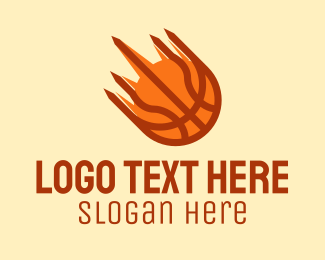 Flaming - Fast Flaming Basketball logo design
