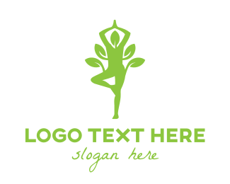 Female - Organic Yoga logo design