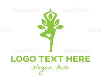 Meditation - Organic Yoga logo design