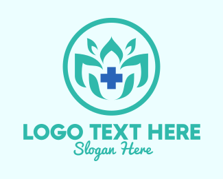 Natural Medicine - Traditional Flower Medicine logo design