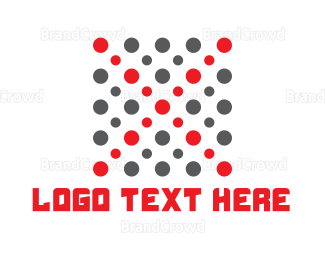 Cocoon - Red Dots logo design