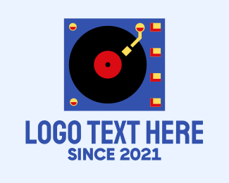 Player - Retro Vinyl Player logo design