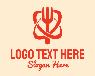 Dinner - Astro Kitchen Food Fork logo design