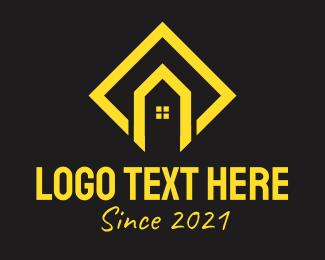 Builder - Golden House Builder  logo design