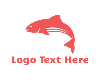 Sushi - Red Fish logo design