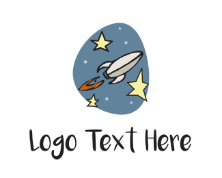 Spacecraft - Space Rocket  logo design