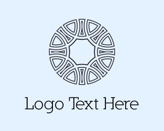 Tribal - Circle Emblem  logo design