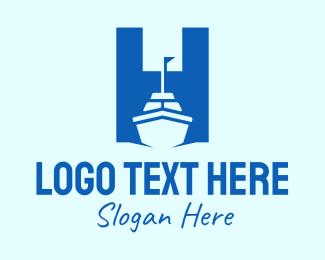 Cruise Ship - Cruise Ship Letter H logo design