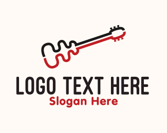 Acoustic -  Curve Guitar logo design