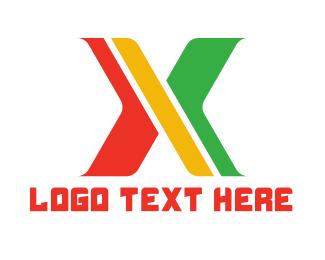 Roman Numeral - Modern Reggae X logo design