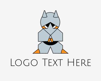 Karate - Ninja Armor Fox logo design